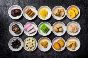 おせち料理の品の数々