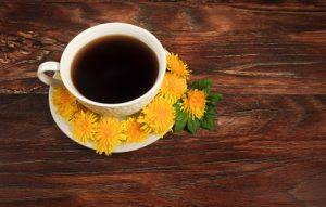 地中で育つタンポポの根を使用したタンポポコーヒー